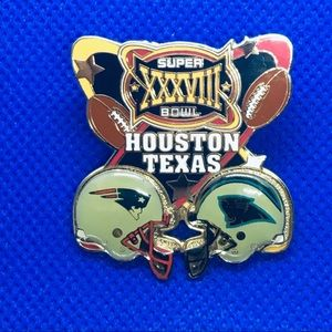Houston Texas super bowl 38 (XXXVIII) pin brooch